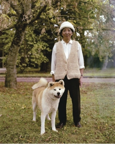 Akita dog hair sweater