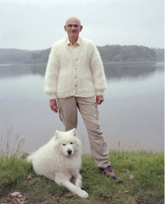 White dog hair sweater