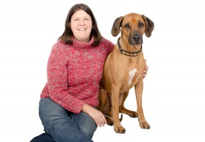 Juliane Kaminski and her dog, Ambula (courtesy of University of Portland)