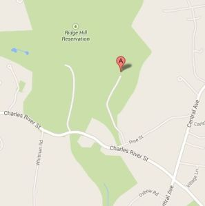 Needham Dog Park map