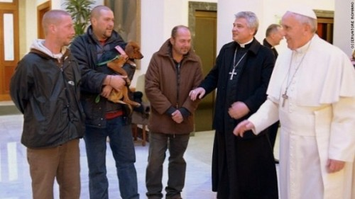 Pope's birthday photo