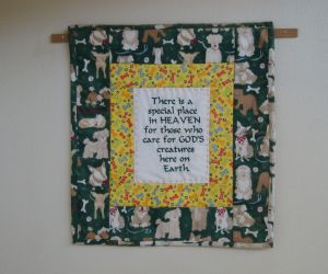 This quilt hangs in Old Friends at the Best Friends Animal Sanctuary in Kanab, Utah