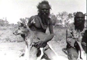 Aborigine with dog