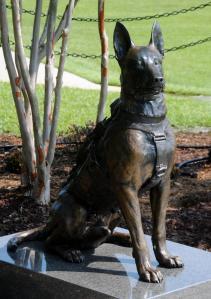 SOF dog statue