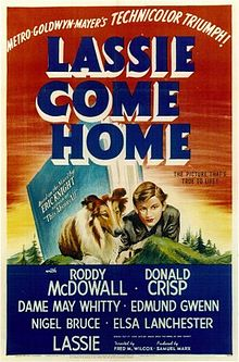 Lassie Come Home theater poster