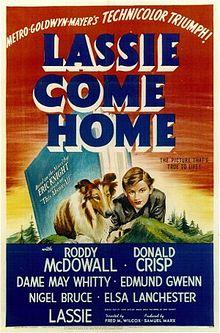 Lassie Come Home theater poster