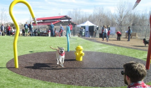 The Willow Creek Dog Park has a firefighting theme to honor 19 Granite Mountain Hot Shot firefighters that died last year