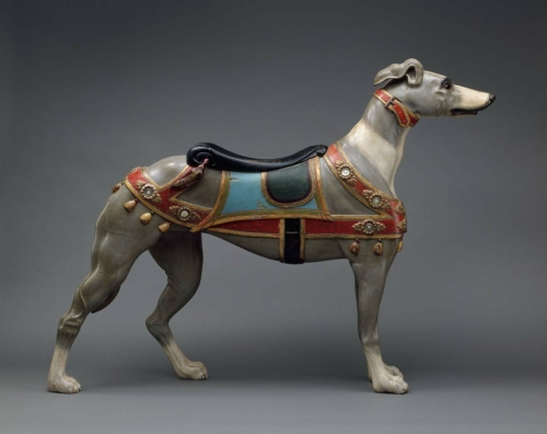 Carousel greyhound by Charles Looff, photo by Museum of Fine Arts, Boston
