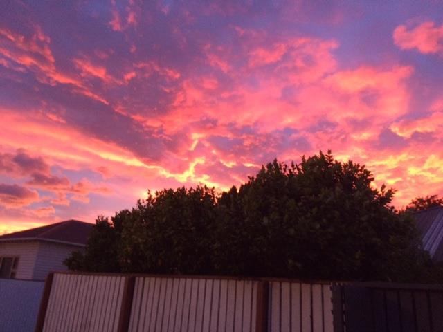 Sunrise in Christchurch, New Zealand