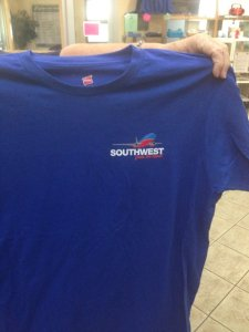 Southwest Airlines t-shirt