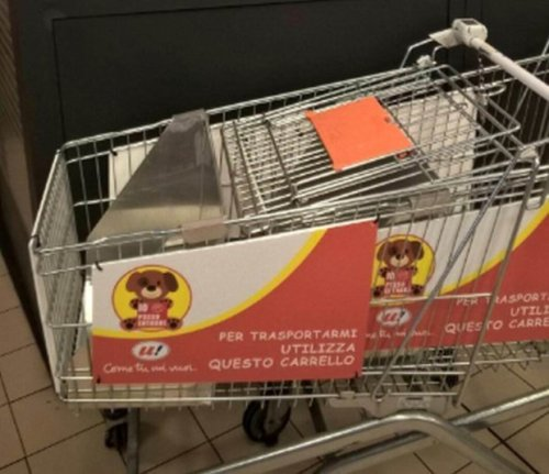 Dog friendly shopping trolley