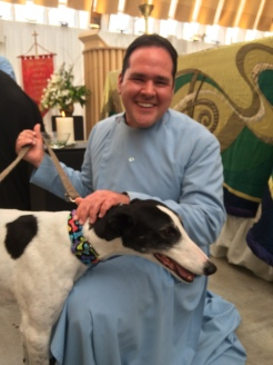 Greyhound blessing at Christchurch Cathedral