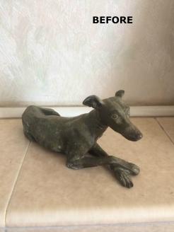 greyhound-bronze-before