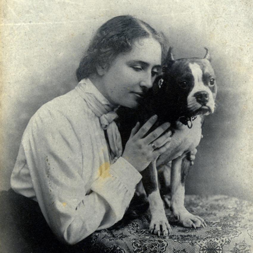 Helen Keller with companions