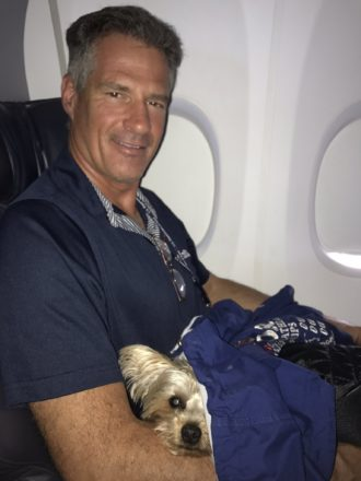 Scott Brown with Gracie