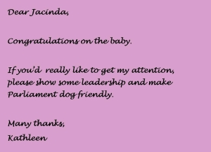 Dear Jacinda