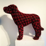 Crayon dog in red and black