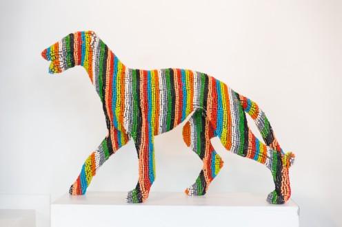Crayon rainbow dog