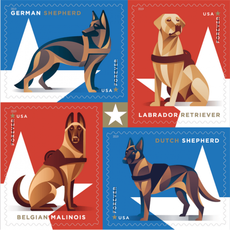 Military Dog stamp set