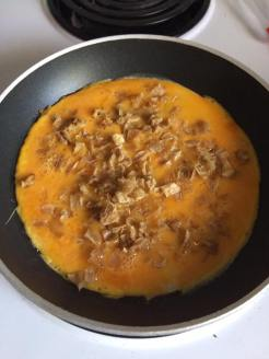 Omelette open