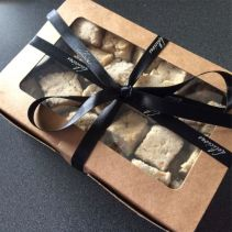 Gift box black ribbon