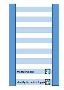 Arthritis management diagram with 2 rungs